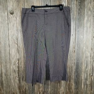 Mossimo Brown Gray Capri Crop Pants